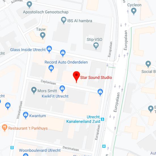 Hier vind je Starsound Studio op de kaart